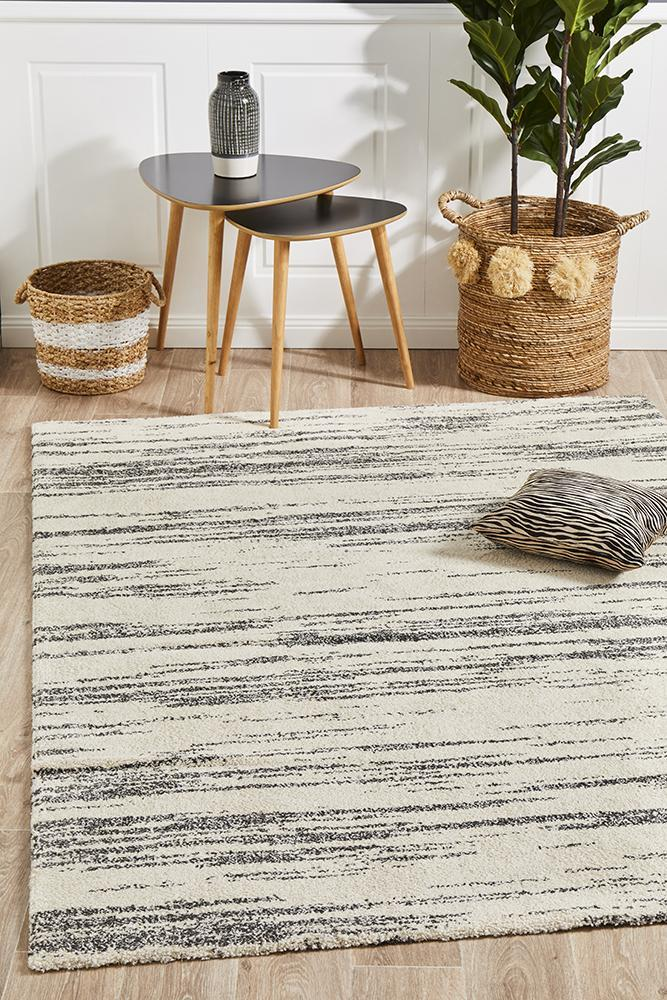 Image of Broadway Evelyn Contemporary Charcoal Rug 290X200