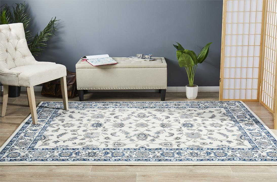 Image of Classic Rug White with White Border 330x240cm