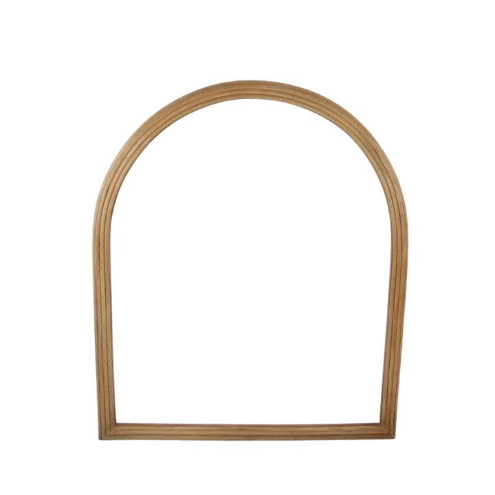 Image of Bamboo Arch Mirror - Natural