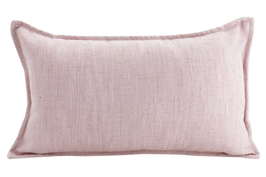 Image of Linen Baby Pink Cushion 30x50cm