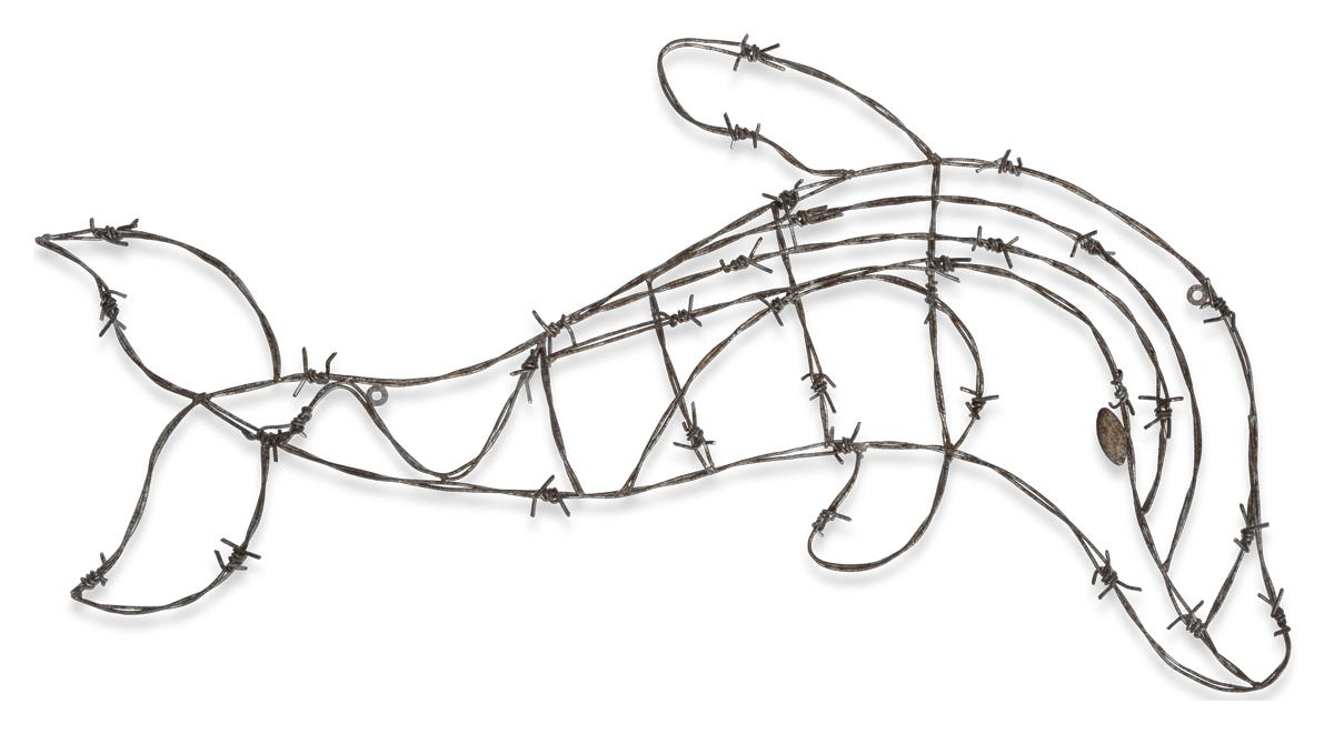 Image of Small Iron Dolphin Wall Decor