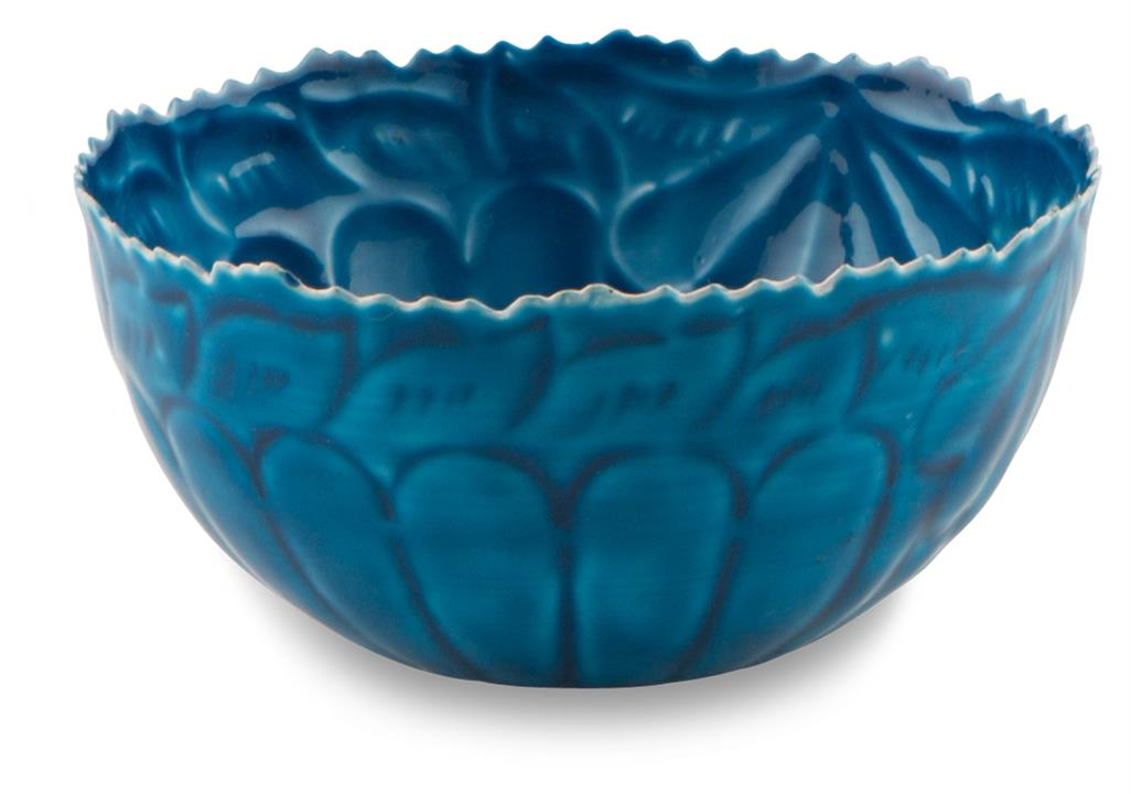 Image of Iron Enamel 16cm Bowl-Blue