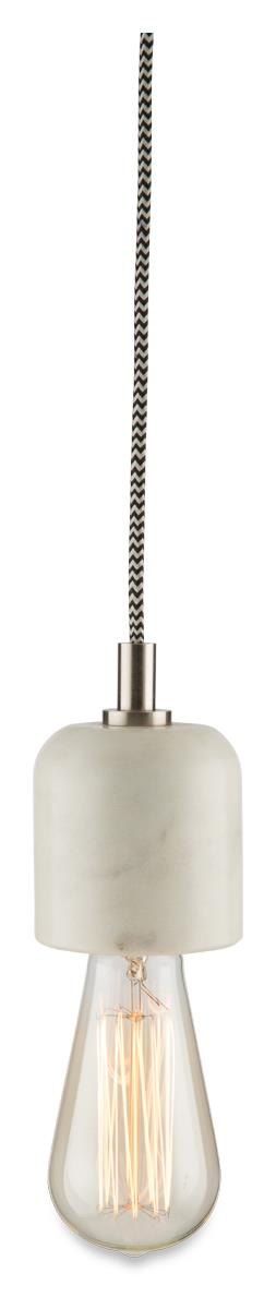 Image of Dome Marble Pendant Hanging Light with Silver Detail
