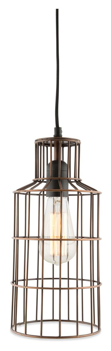 Image of Bottle Galvanized Iron Wire Pendant Hanging Light