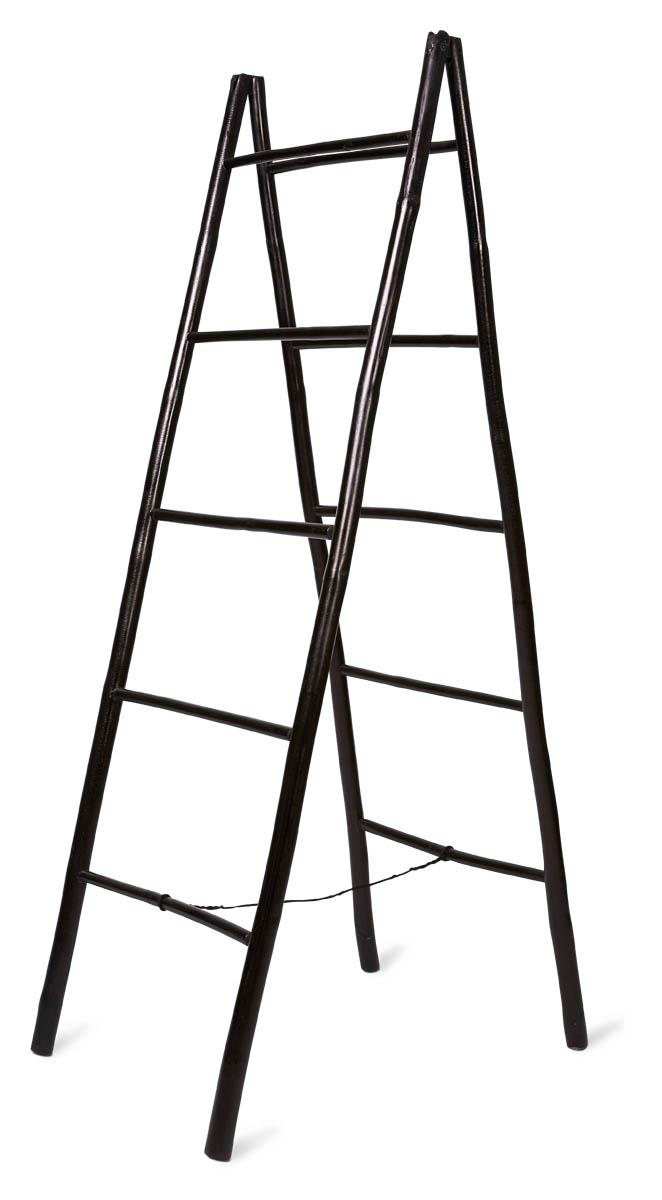 Image of Bamboo 5 Step Ladder - Black