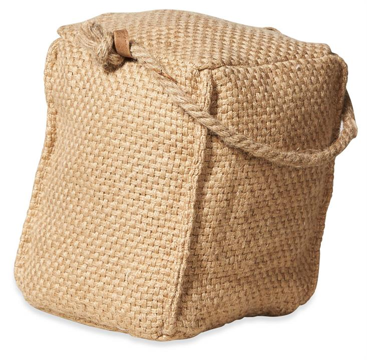 Image of Square Jute Door Stopper - Natural