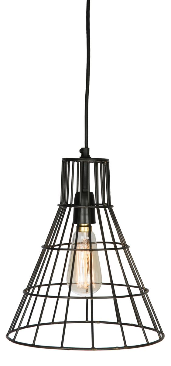 Image of Flared cage lamp, black coal