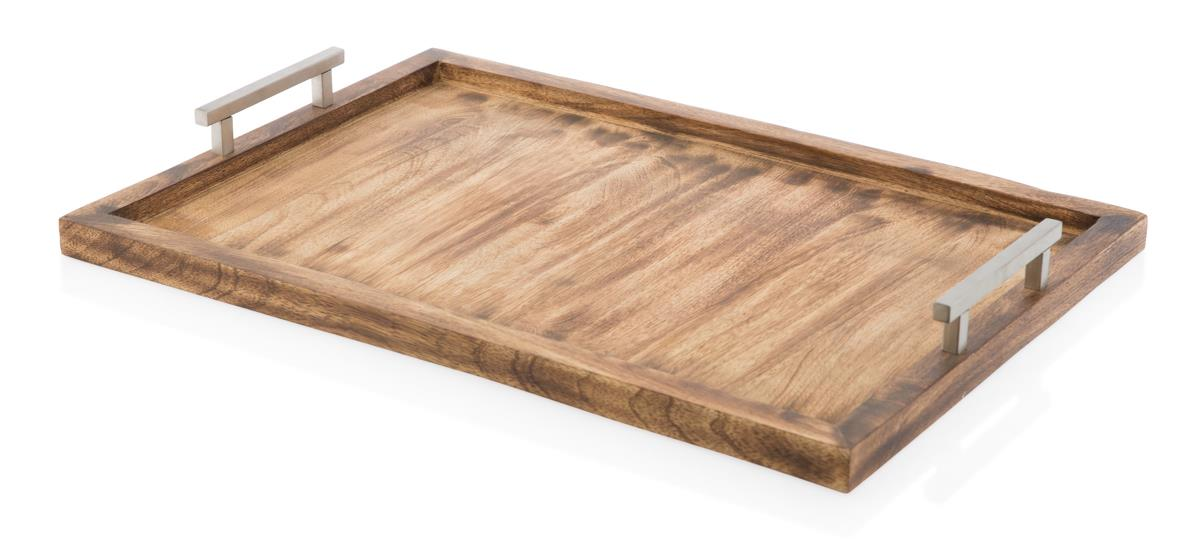Image of Old-fashioned Rectangle Wooden Tray