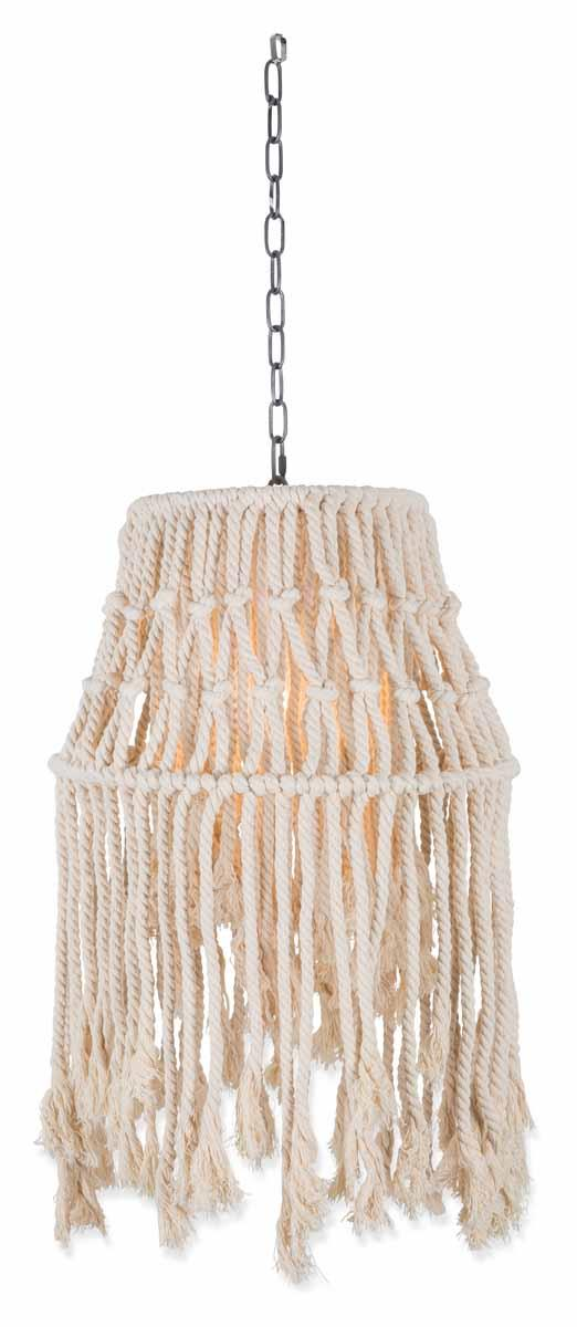 Image of Rope Canopy Pend Lightt-S-Whte