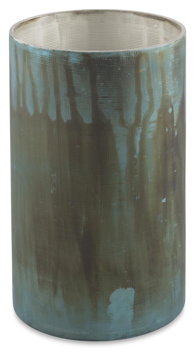 Image of Medium Eshan Etched Mesh Glass Candle Holder