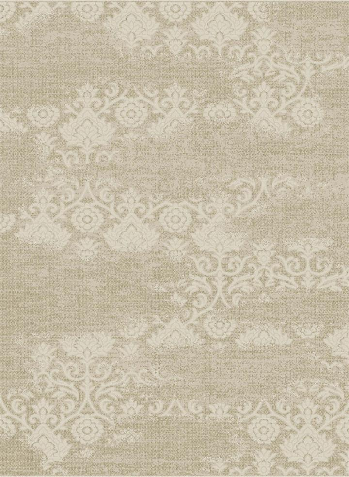 Image of Rug 100% Indoor/Outdoor Polypropylene St Tropez Floral - Beige - 290x200