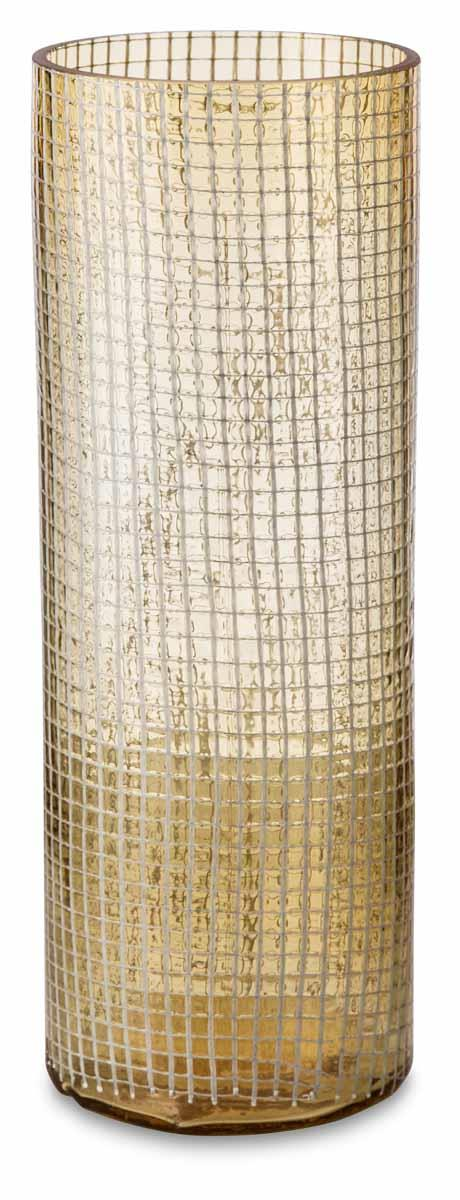 Image of Glass Vase with White Net Medium
