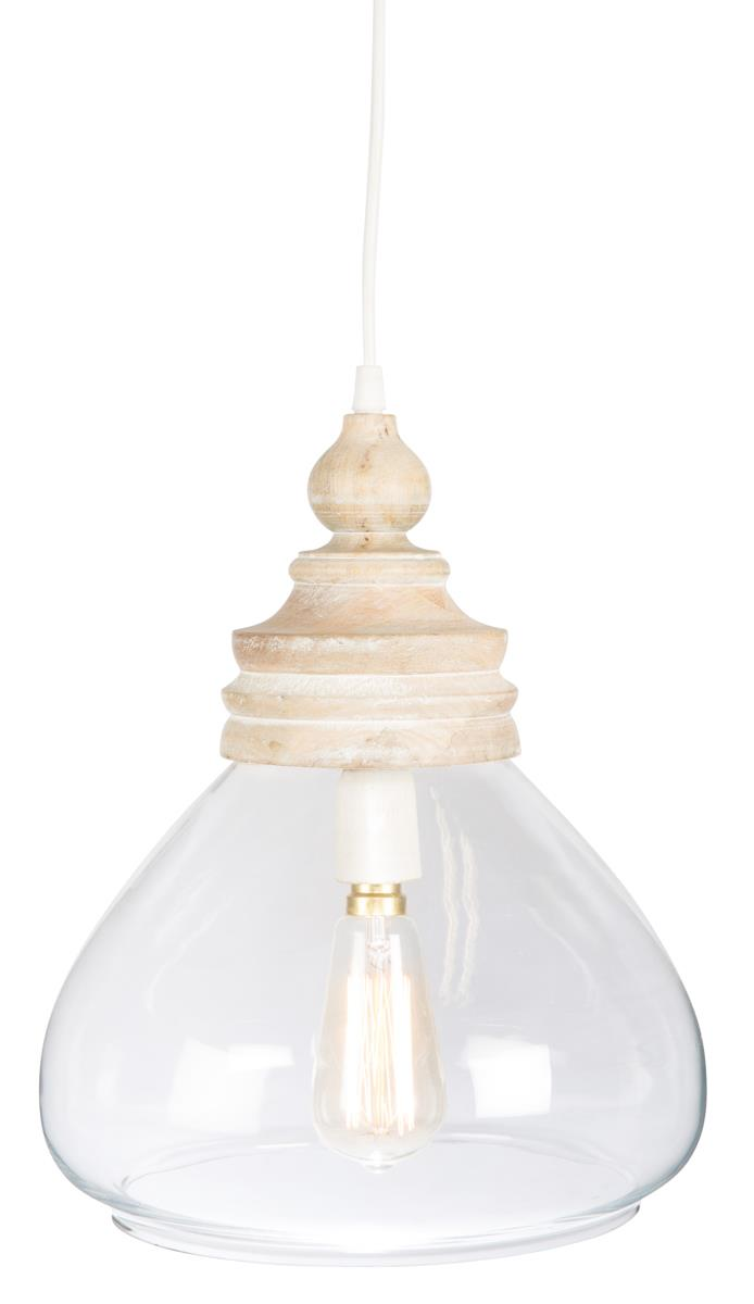 Image of Haven Glass and Wood Pendant Light