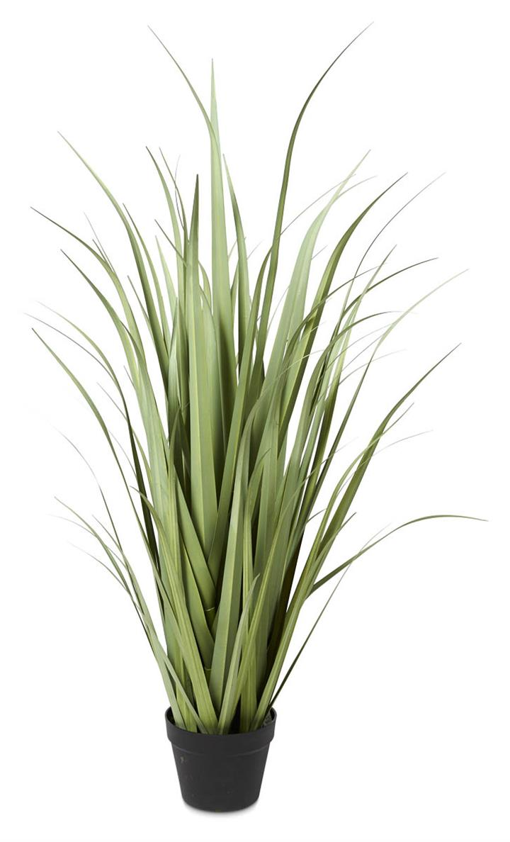 Image of Plastic Curve Grass in Plastic Pot 110cm - Green