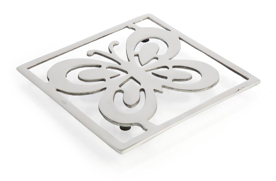 Image of Silver Butterfly Square Trivet
