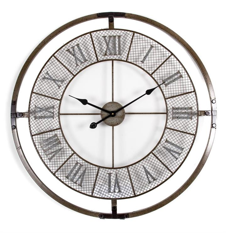 Image of Roman Numeral Mesh Wall Clock