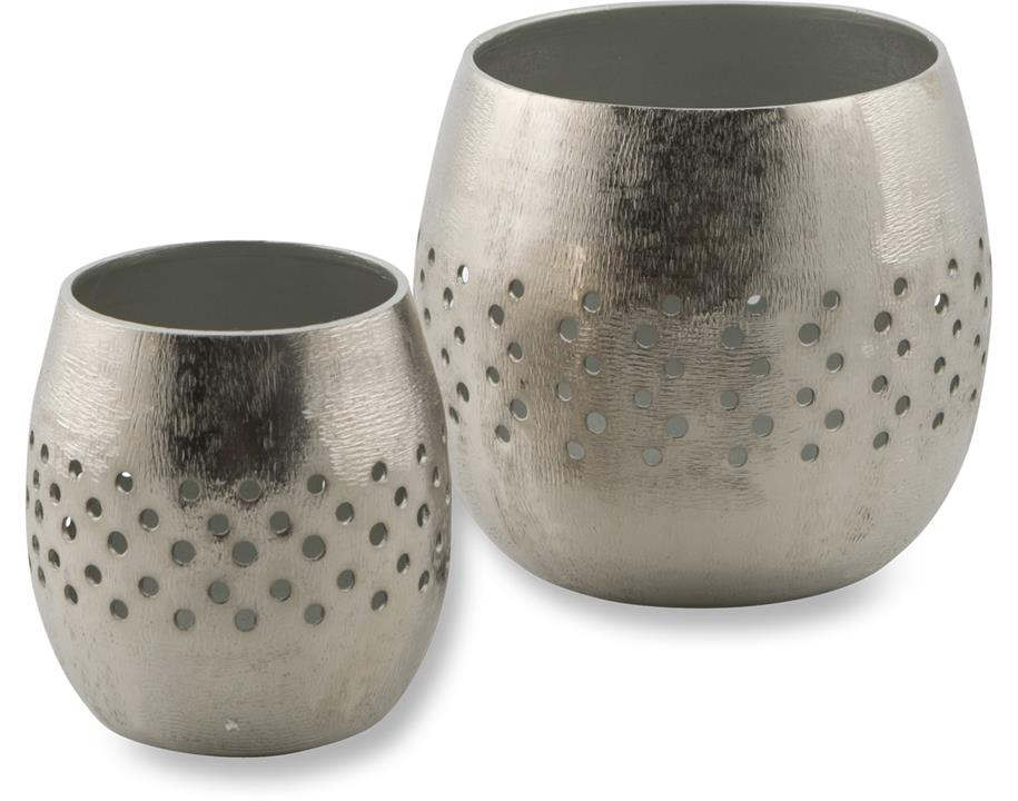 Image of Bromley Set of Two Aluminium Votives