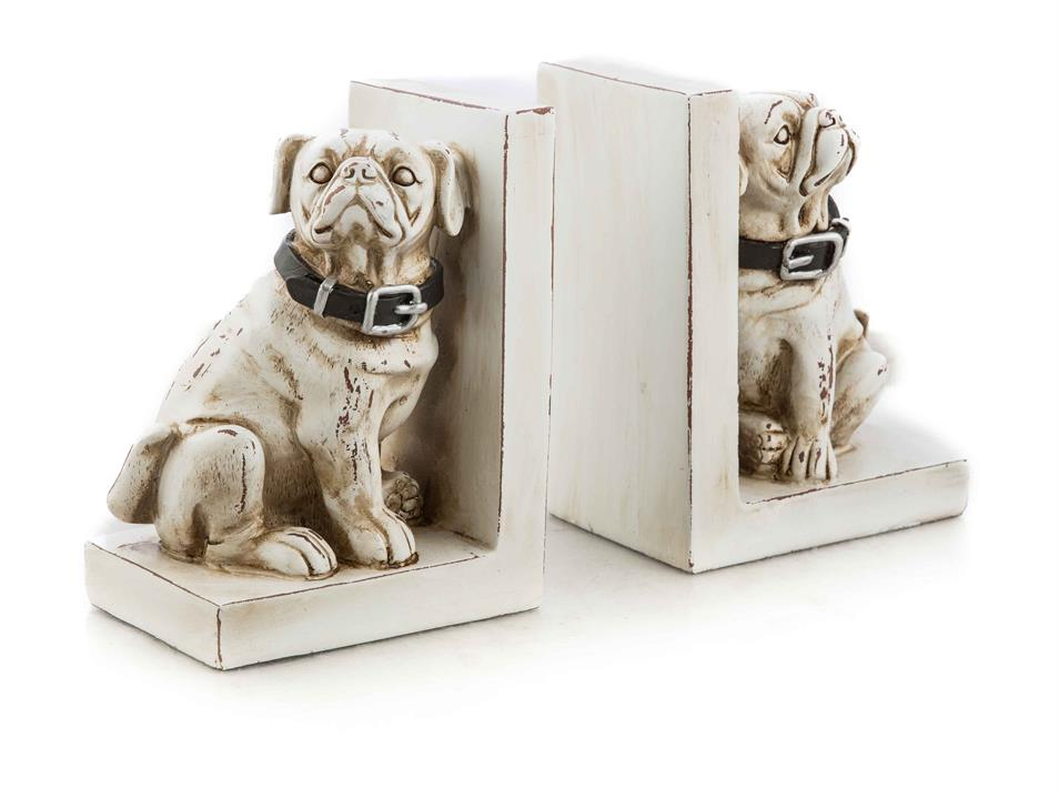 Image of Set of Polyresin Dog Bookends