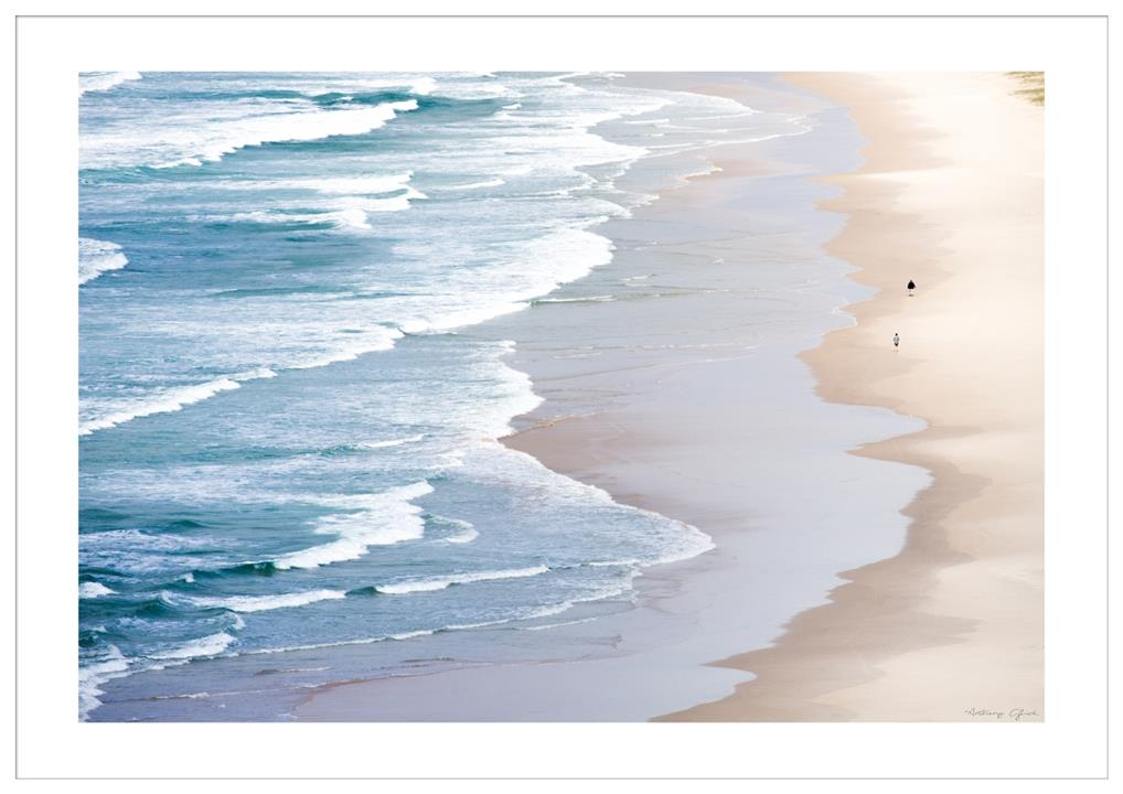 Image of Serene Beach - 160X113 - White Frame