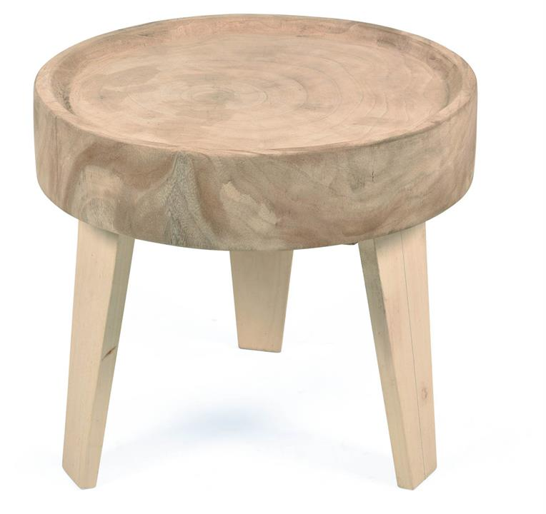 Image of Citra Java Round Wooden Side Table 52Cm
