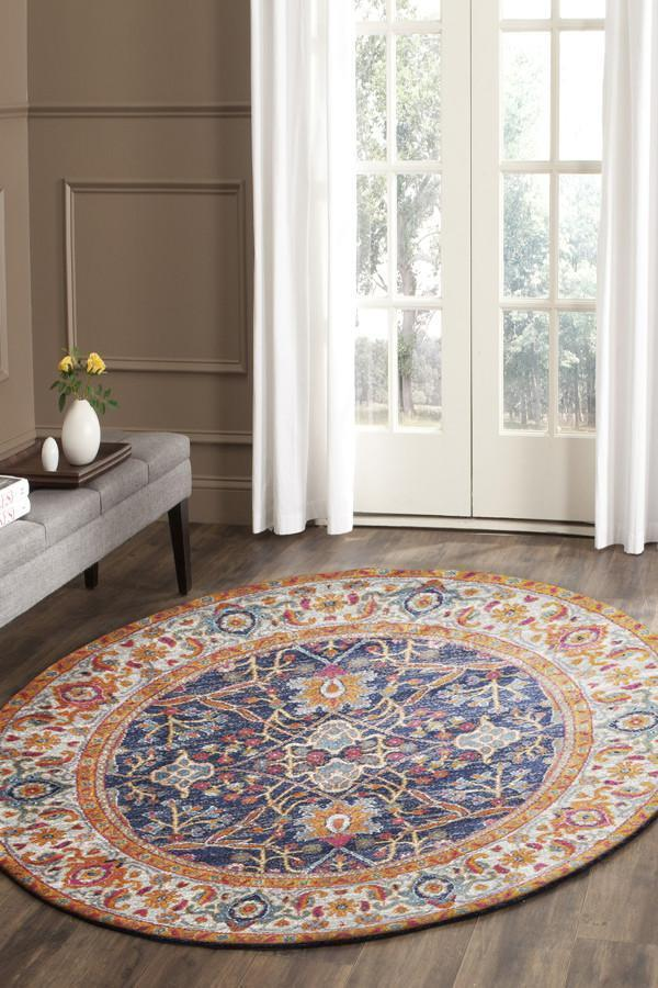 Image of Splash Multi Transitional Rug 150x150cm