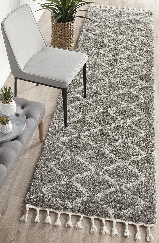 Image of Saffron 11 Grey Runner 200x80