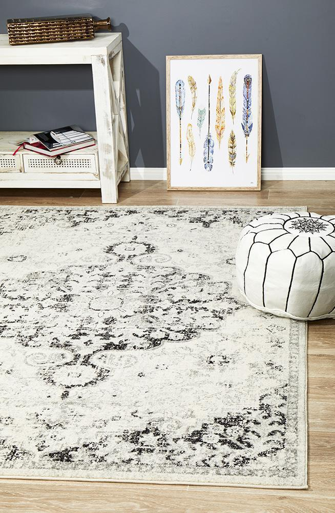 Image of Museum Transitional Charcoal Rug 300X80