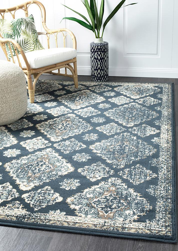 Image of Mayfair Timeline Navy Rug 230X160cm