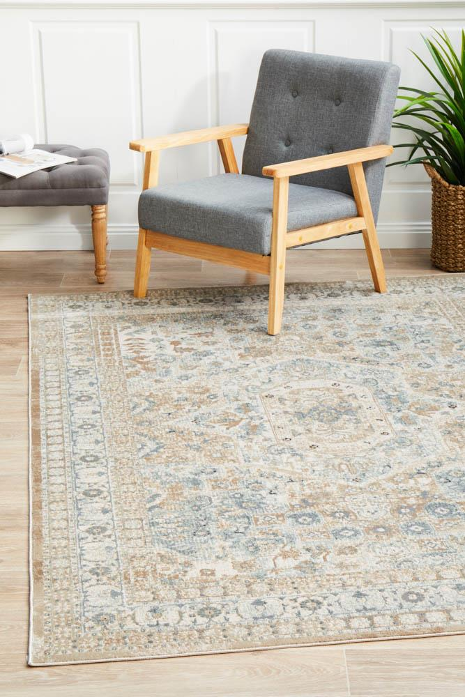 Image of Esquire Central Traditional Beige Rug 230X160cm