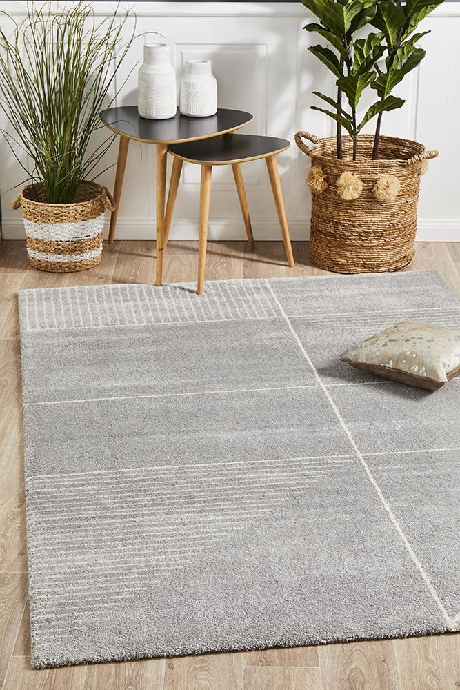Image of Broadway Florence Modern Silver Rug 290X200