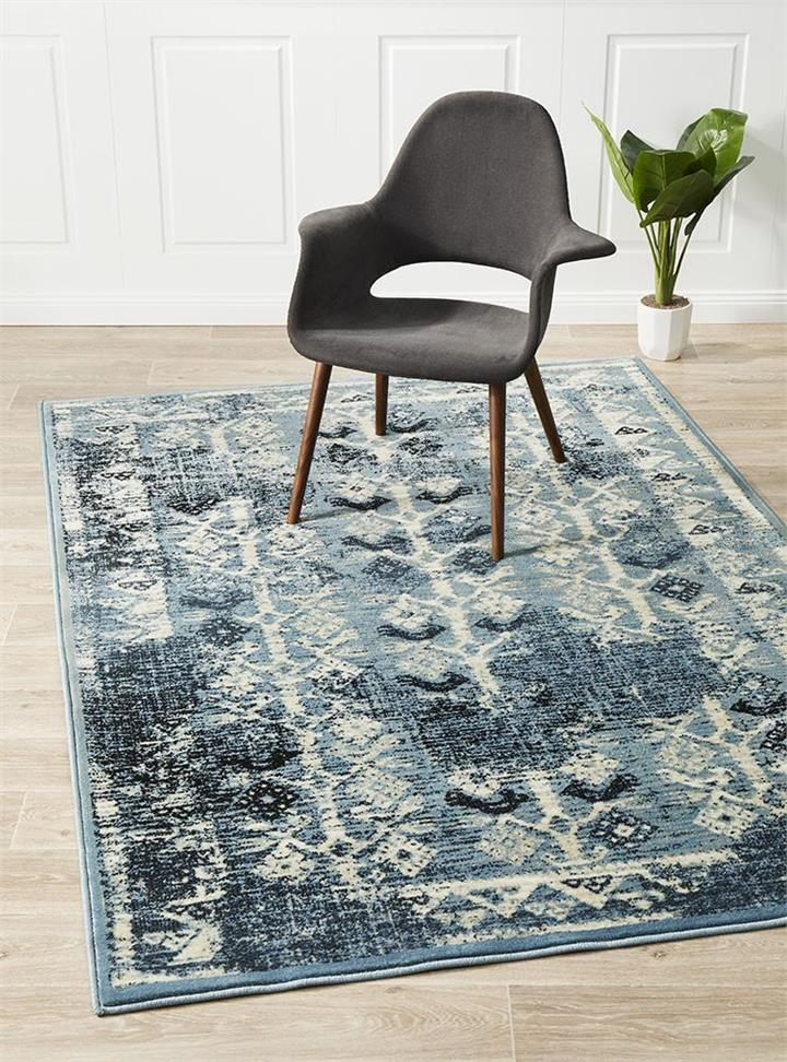 Image of Urdu Tribal Rug Blue 290X200cm