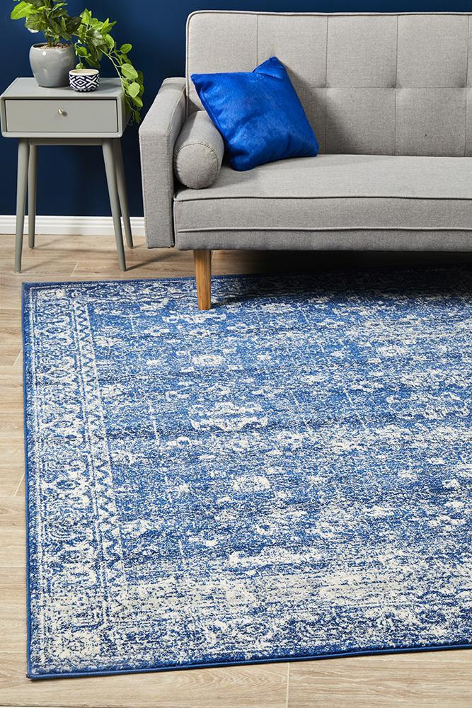 Image of Oasis Navy Transitional Rug 290x200cm