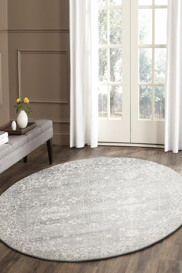 Image of Shine Silver Transitional Rug 240x240cm