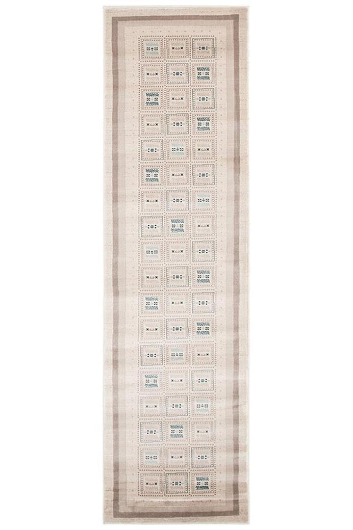 Image of Fragment Traditional Cream Rug 400x80cm
