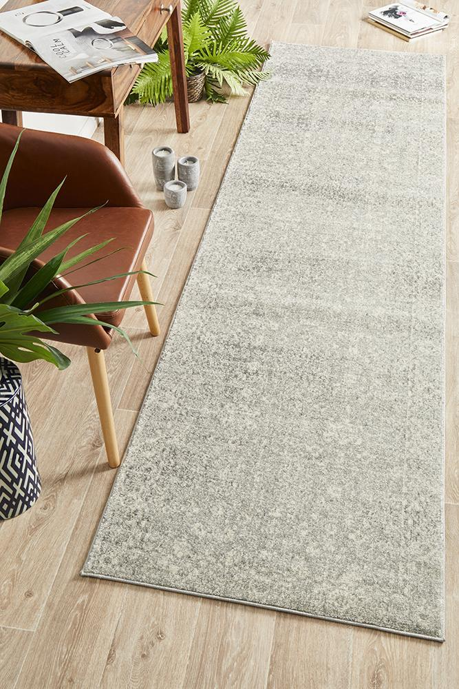 Image of Shine Silver Transitional Rug 500x80cm
