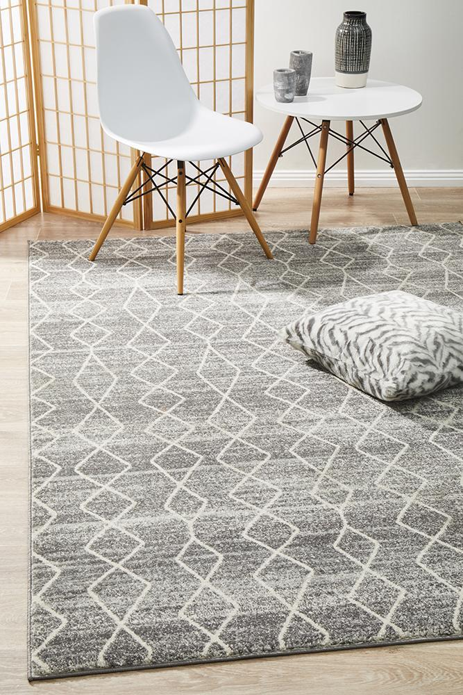 Image of Remy Silver Transitional Rug 330x240cm