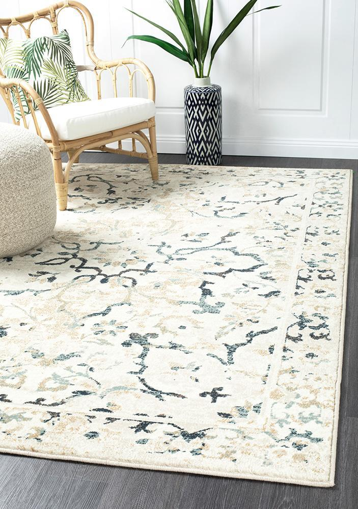 Image of Mayfair Stem Bone Runner Rug 400X80cm