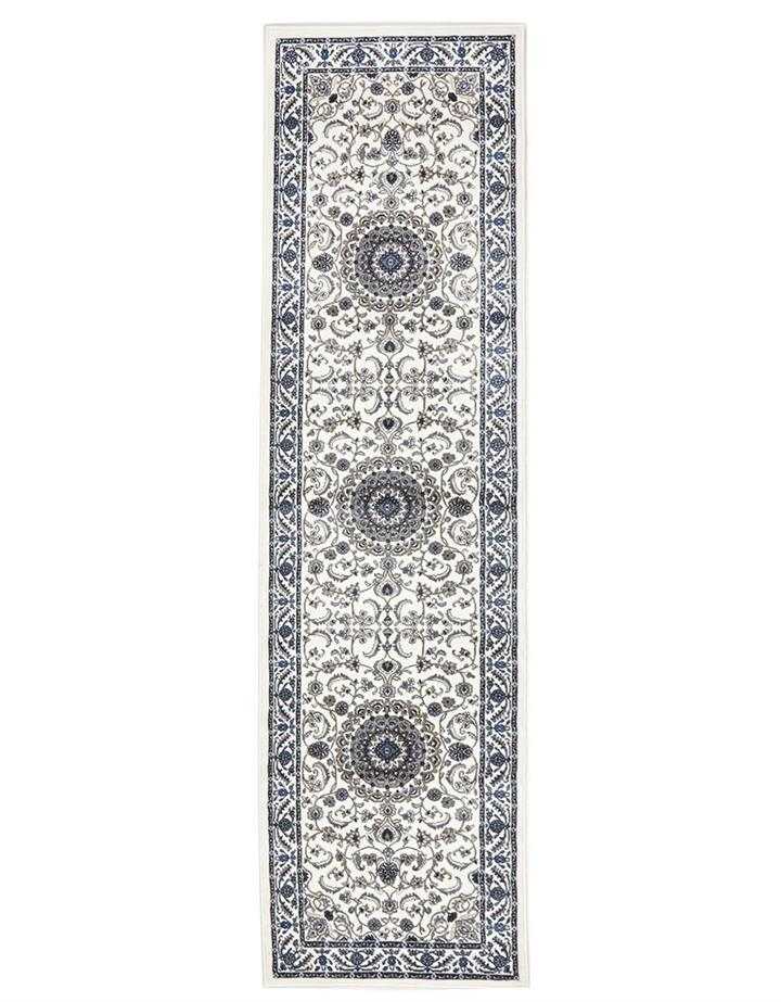 Image of Medallion Runner White with White Border 400x80cm