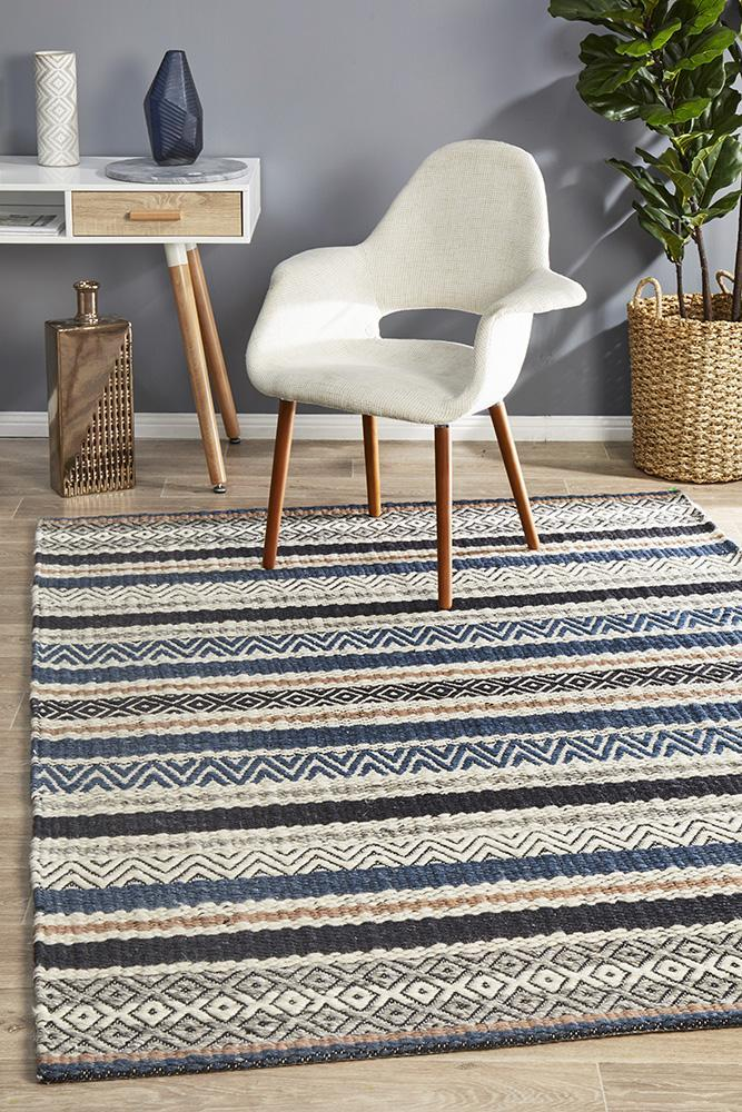 Image of Rhythm Swing Denim Rug 320X230cm
