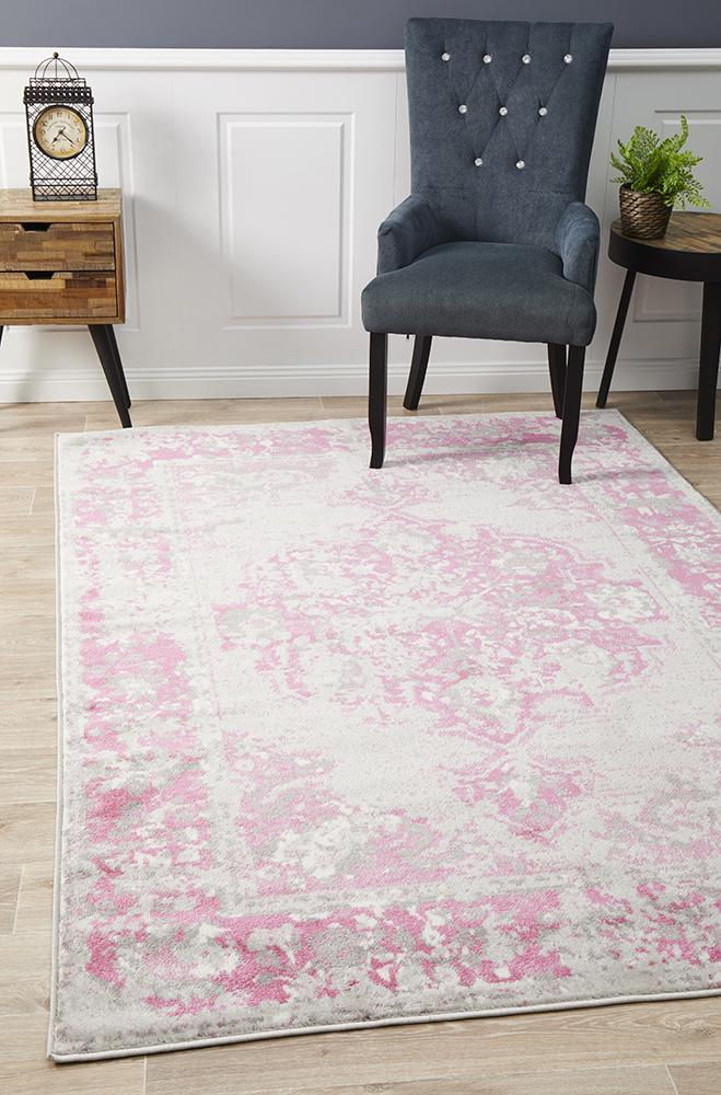 Alexa Transitional Rug Grey Fuchsia 290x200cm