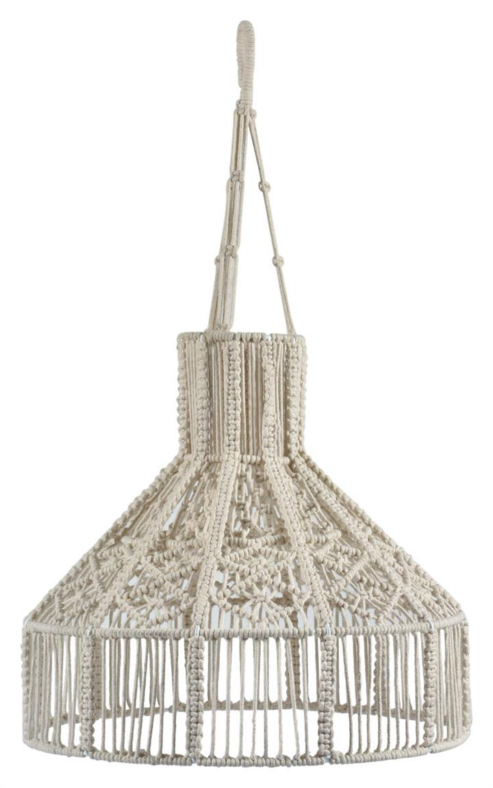 Ballina Macrame Round Pendant Light - Off White