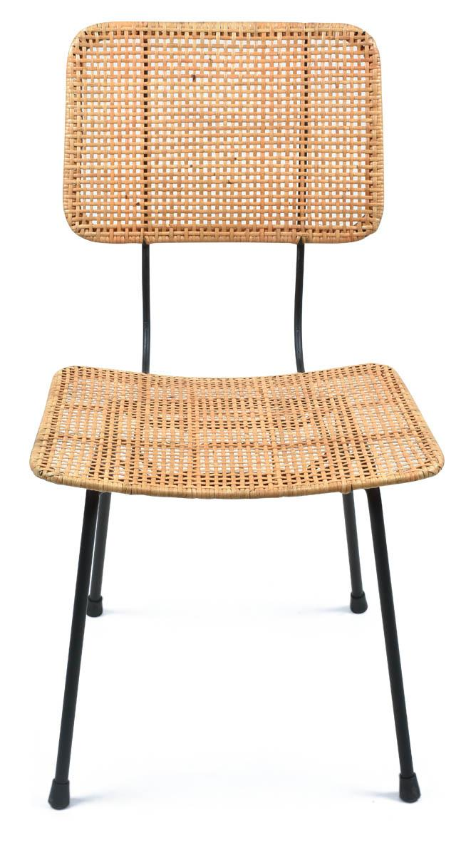 Gayo Rattan And Metal Dining Chair - Natural/Black