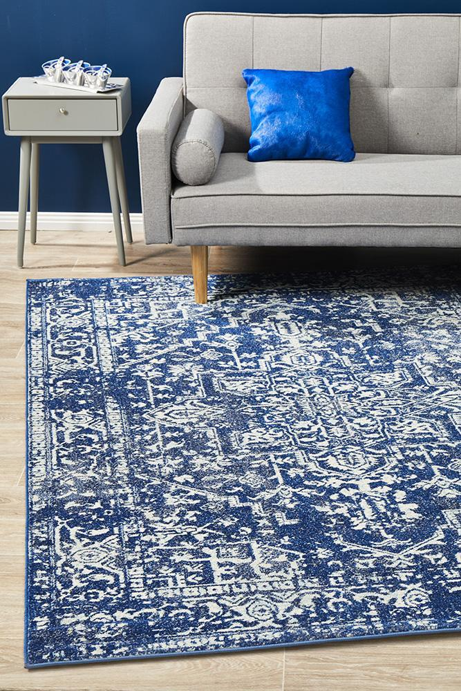 Image of Contrast Navy Transitional Rug 330x240cm