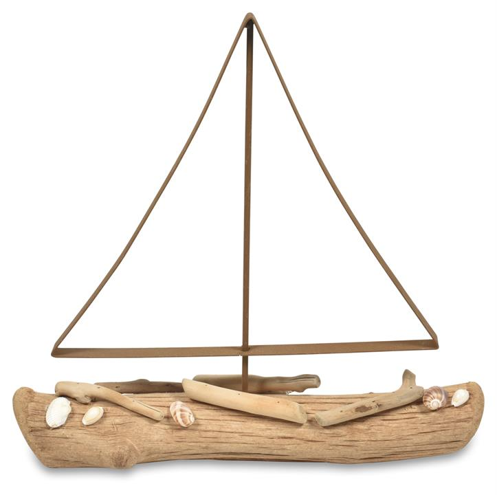Image of Large Driftwood Boat Ornament