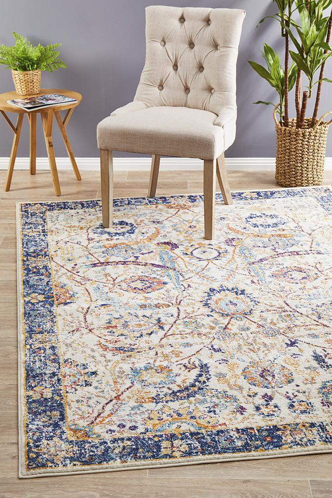 Image of Peacock Ivory Transitional Rug 230x160cm