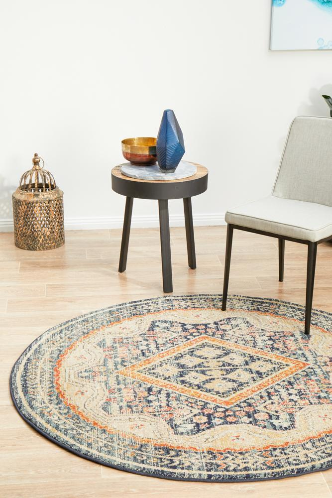 Image of Legacy 863 Navy Round Rug 240X240CM