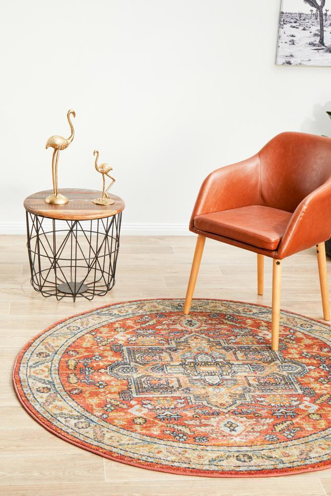 Image of Legacy 850 Terracotta Round Rug 150X150CM
