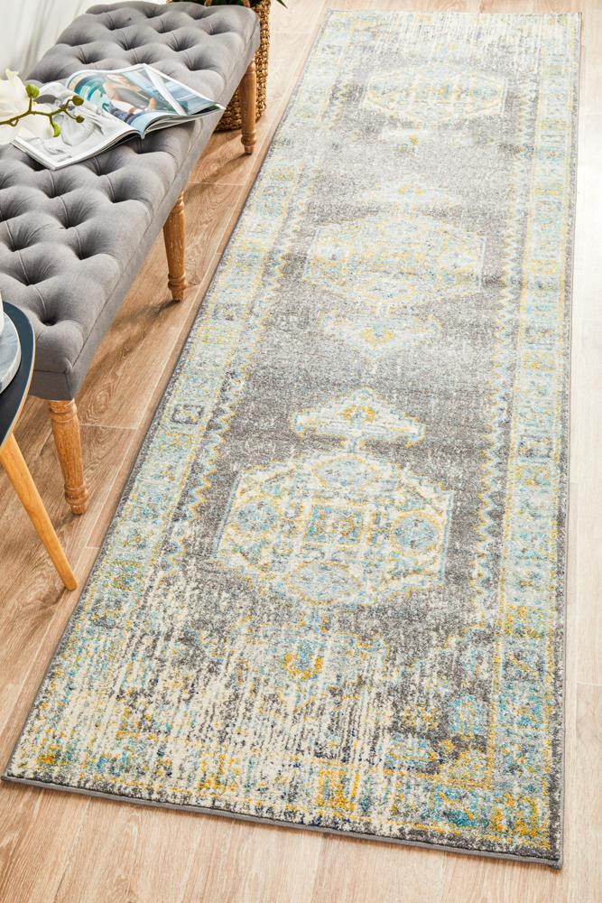 Image of Century 944 Grey Runner Rug 500X80CM