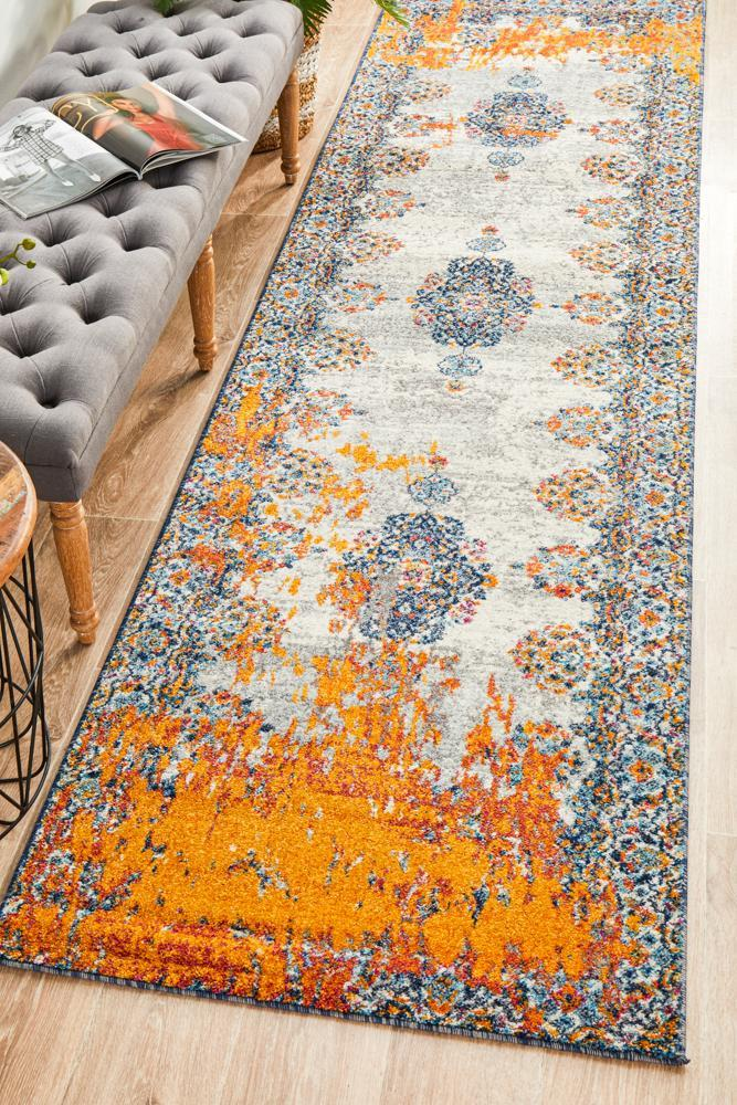 Image of Radiance 555 Bone Runner Rug - 400X80CM