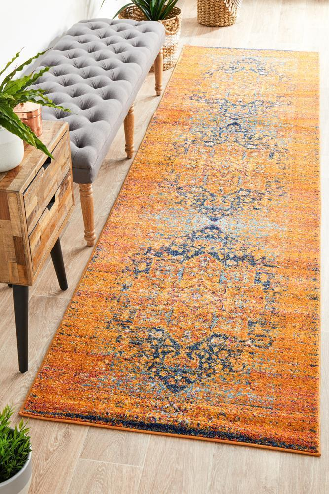 Image of Radiance 400 Rust Runner Rug - 300X80CM